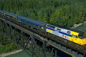 Via Rail tours to Canadian Rockies